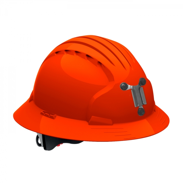 280-EV6161M PIP® JSP® Evolution® Deluxe 6161 Full Brim Mining Hard Hat: BRIGHT ORANGE
