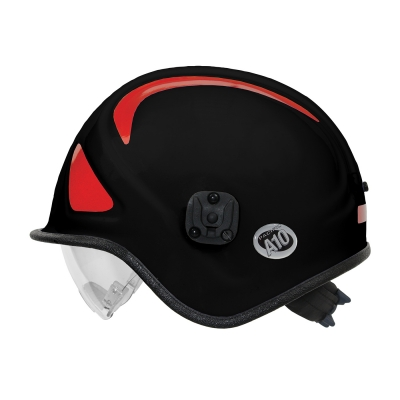 813-32XX PIP® Pacific Black A10™ Ambulance & Paramedic Helmet with Retractable Eye Protector