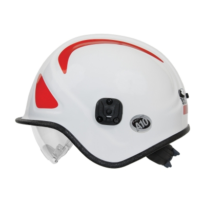 PIP White A10™ Ambulance & Paramedic Helmet with Retractable Eye Protector