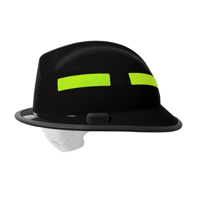 828-03XX PIP® Pacific Black F6™ Structural Fire Helmet with Retractable Eye Protector