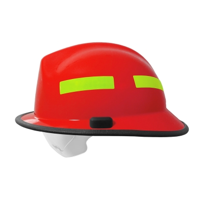 PIP Red F6™ Structural Fire Helmet with Retractable Eye Protector