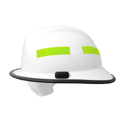 828-03XX PIP® Pacific White F6™ Structural Fire Helmet with Retractable Eye Protector