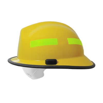 828-03XX PIP® Pacific Yellow F6™ Structural Fire Helmet with Retractable Eye Protector