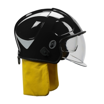 PIP Black F10 MKV™ Jet-Style Fire Helmet with Internal Bubble Face Shield