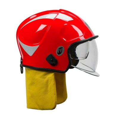PIP Red F10 MKV™ Jet-Style Fire Helmet with Internal Bubble Face Shield