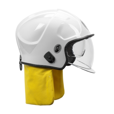 PIP White F10 MKV™ Jet-Style Fire Helmet with Internal Bubble Face Shield