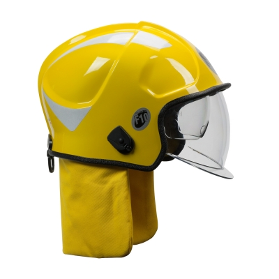 PIP Yellow F10 MKV™ Jet-Style Fire Helmet with Internal Bubble Face Shield