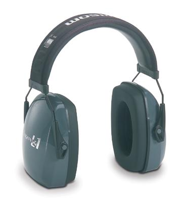 Howard Leight® Leightning® L1 Light Gray Metal Headband Noise Blocking Earmuffs
