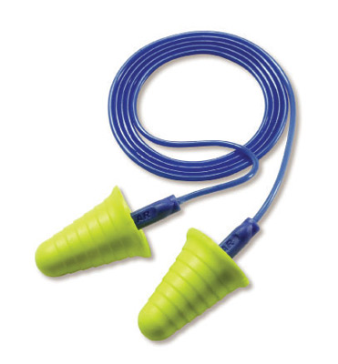 3M™ Multiple Use E-A-R™ Push-Ins™ With Grip Rings Bell Shaped E-A-Rform™ Foam Corded Earplugs With Grip Rings