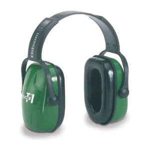 Howard Leight® Thunder® T1 Light Green Plastic Headband Noise Blocking Earmuffs