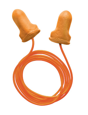 Single Use T-Shaped Orange Polyurethane And Foam Corded Earplugs