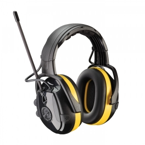 264-46002 PIP®  Hellburg™ Secure™ React Electronic Headband Ear Muffs w/ AM/FM Radio & Active Listening