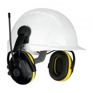 264-46102 PIP® Hellburg™ Secure™ React Electronic Cap Mounted Ear Muffs w/ AM/FM Radio & Active Listening