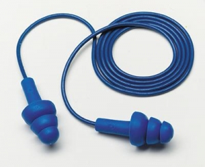 3M™ Multiple Use E-A-R™ UltraFit™ Triple Flange Foam Metal Detectable Corded Earplugs