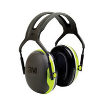 3M™ Peltor™ Black And Chartreuse Over-The-Head Hearing Conservation Earmuffs