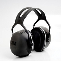 3M™ Peltor™ Black X5A Over-The-Head Hearing Conservation Earmuffs