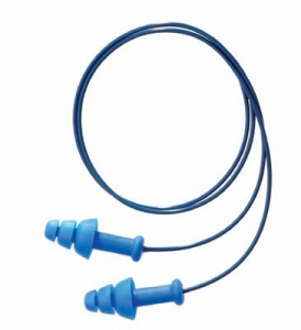 Howard Leight® Multiple Use SmartFit® 3-Flange Blue CMT Detectable Corded Earplugs