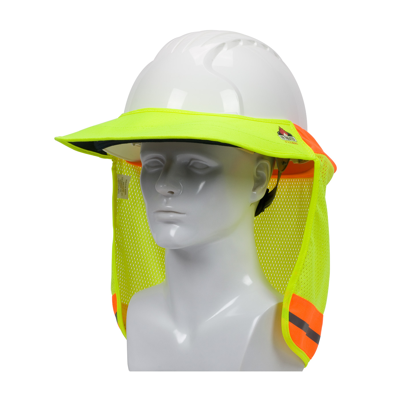 80d7990f EZ-Cool® Hi-Viz Flame Retardant Hard Hat Visor Neck Shades | Sun ...