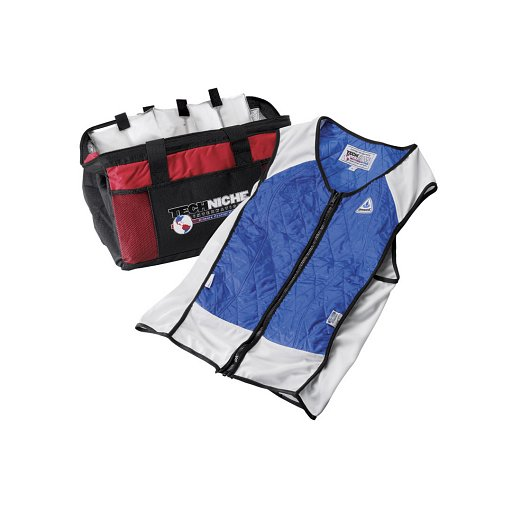 Techniche 4531 Hybrid Evaporative Cooling Vests (includes carry bag) Blue color.