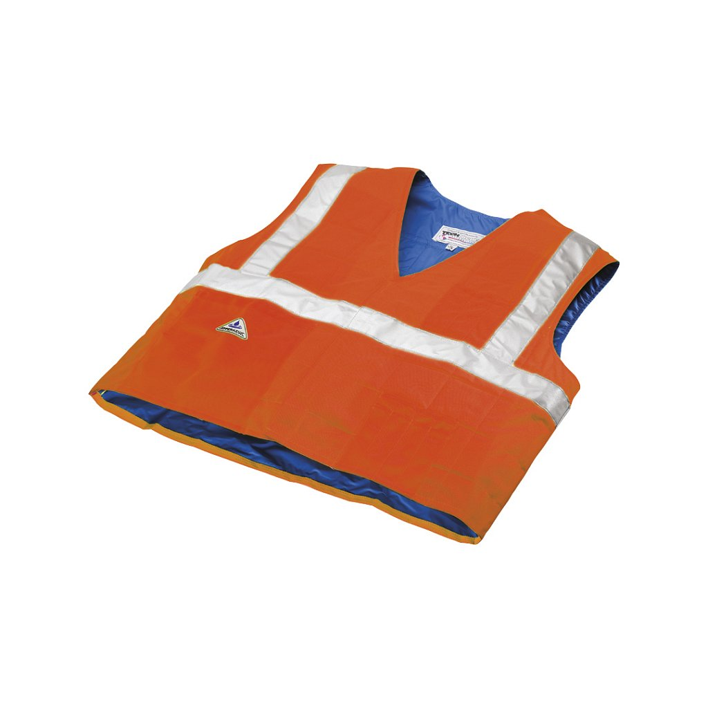 Techniche 6538 HyperKewl™ Hi-Viz Orange Traffic Safety Cooling Vests