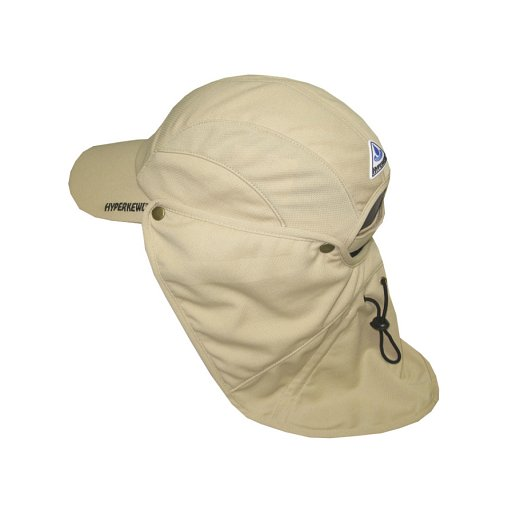 Techniche 6596 HyperKewl™ Evaporative Cooling Ultra Sport Caps with Neck Shade. Khaki color.