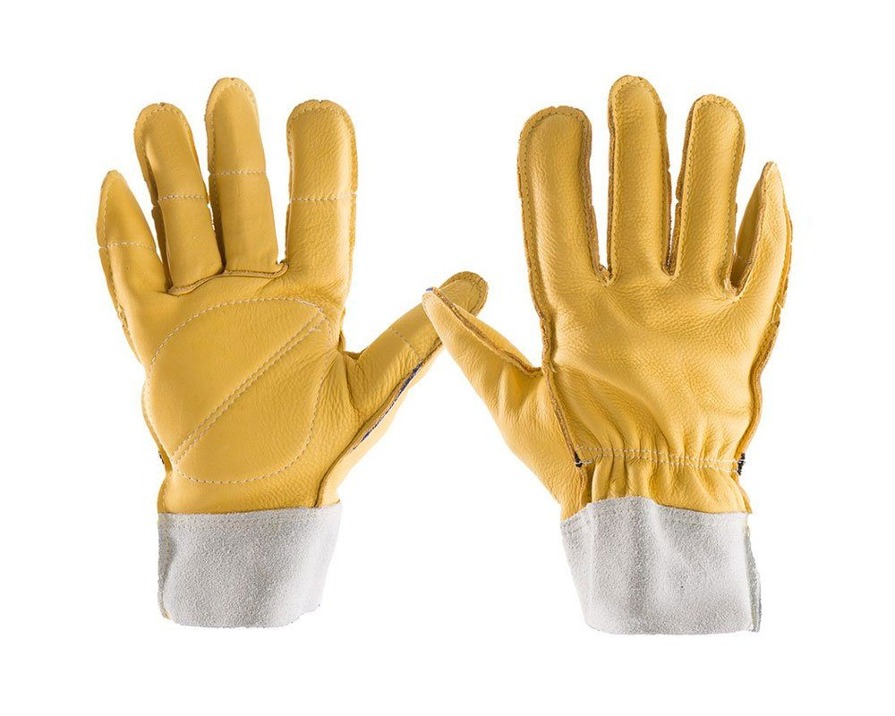 #615-20 Impacto® Full Finger All Leather Work Gloves with Padded Palms, Fingers and Thumbs