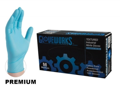 Ammex Gloveworks Powdered Nitrile Gloves