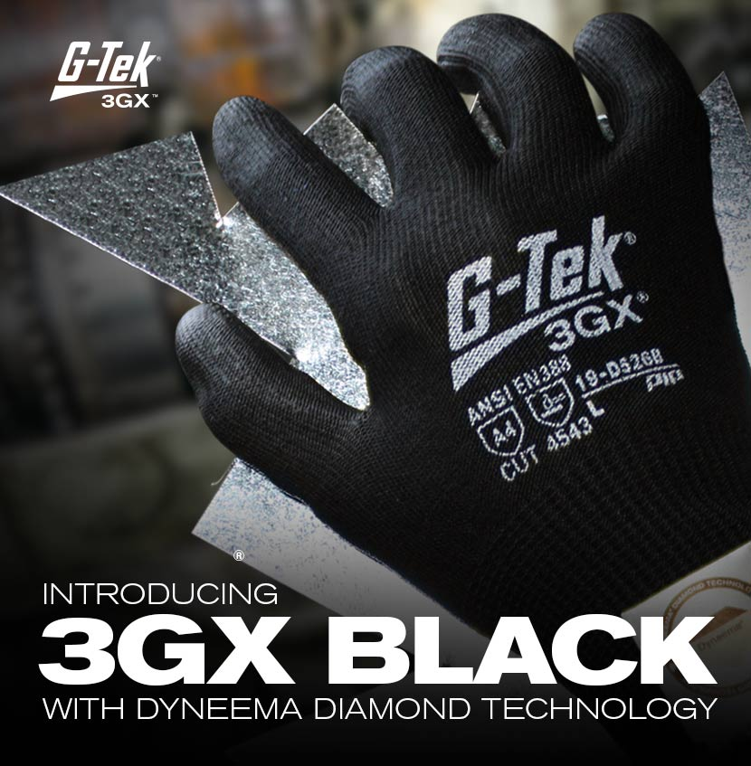 19-D526B G-Tek® 3GX® Black Gloves