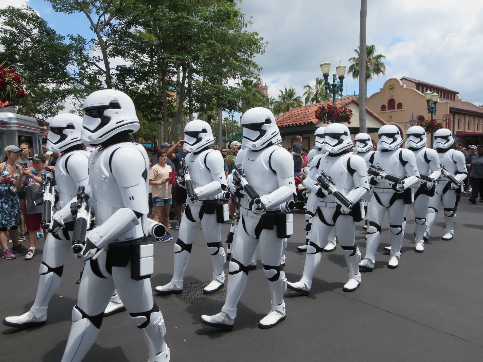 Image of Storm Trooper Mascots in high heat temperatures