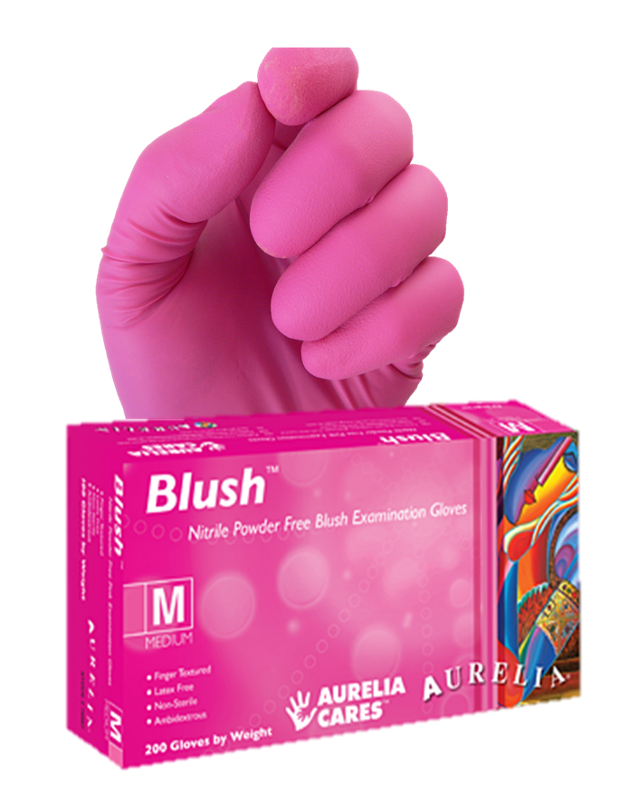 Aurelia® Blush® Pink Nitrile Exam Gloves