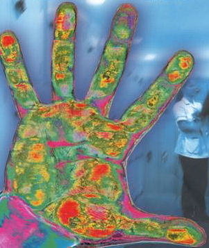 Dirty hands cross contaminate germs