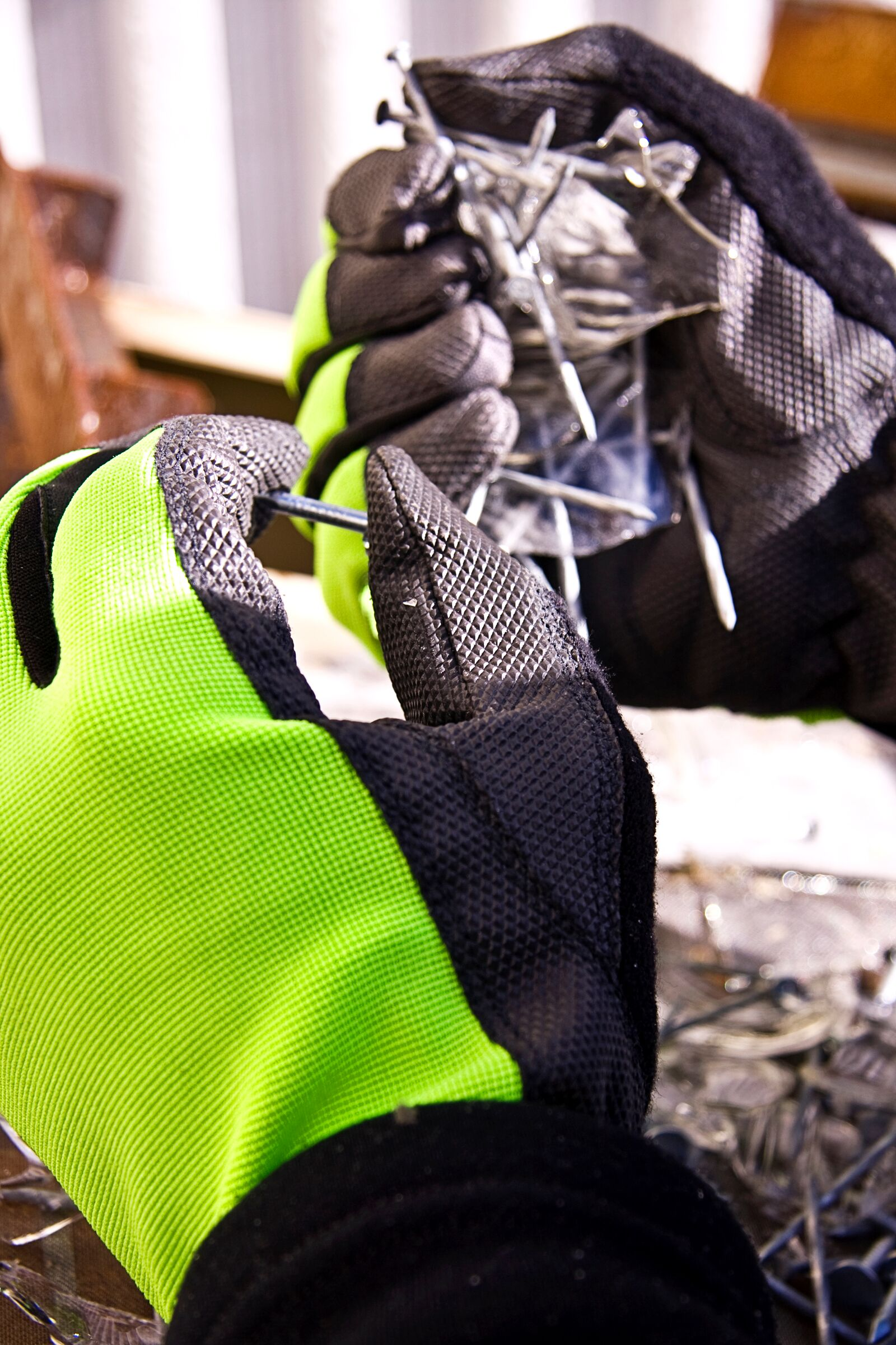 #MXHVPB Superior Glove® Clutch Gear® Mechanics Hi-Viz Punkban™ Gloves