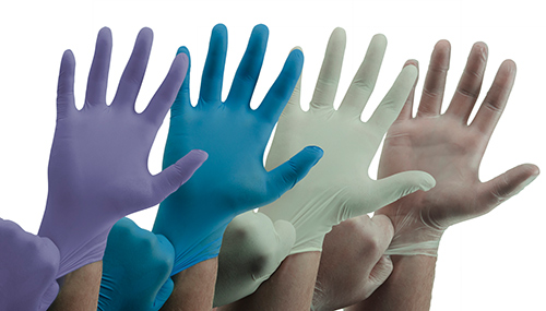 Single-Use Latex, Vinyl and Nitrile Gloves