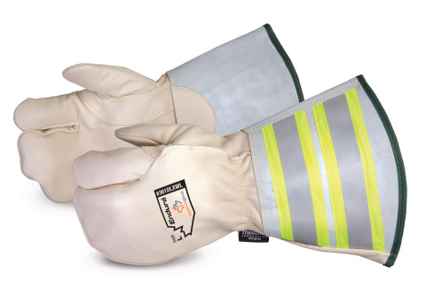 361DLXWL - Superior Glove®  Endura® Extreme-Cold One-Finger Winter Lineman Mitt with 6` Reflective Gauntlet Cuff