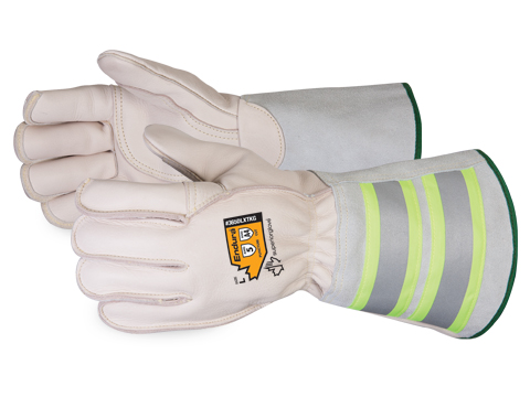 365DLXTKG Superior Glove®  Endura® Deluxe Winter Kevlar®-Lined Lineman Gloves with 6` Reflective Gauntlet Cuffs
