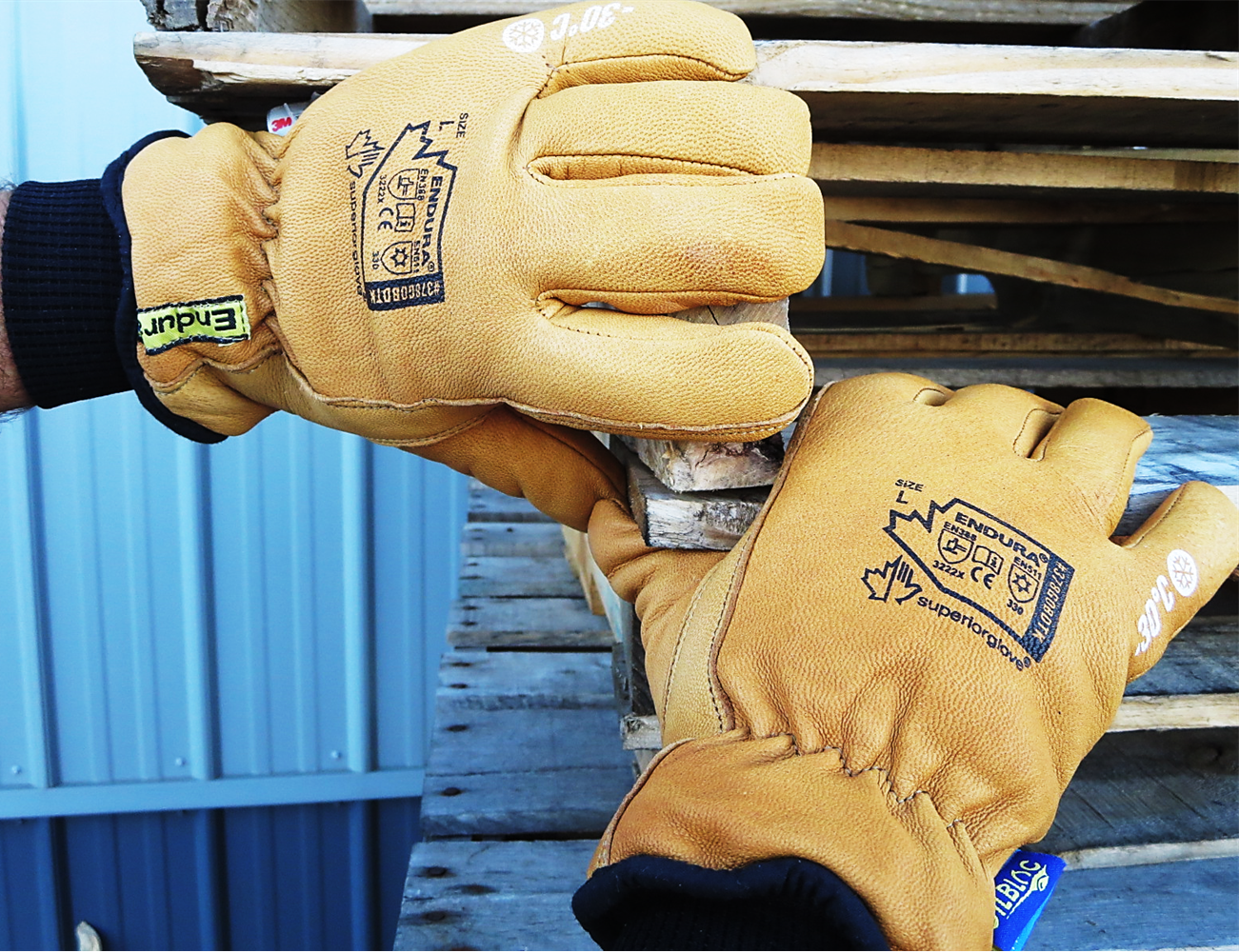 378GOBDTK Superior Glove® Endura® Deluxe Winter Goat-Grain Driver with WaterStop™/Oilbloc™ and Double Weight Thinsulate™ Liner