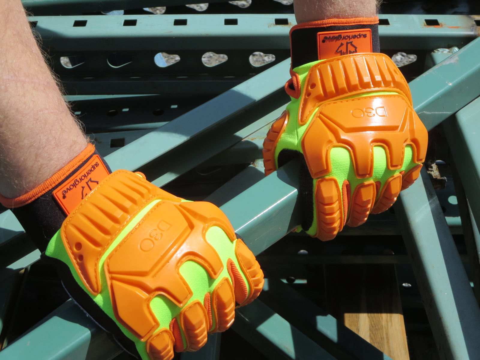Image of #MXD3o Superior Glove® Clutch Gear® Hi-Viz Anti-Impact Gloves w/ D3o®