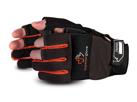 #MXFE Superior Glove® Clutch Gear® Framers Open-Finger PVC Grip Gloves