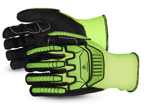 #SHVPNTVB Superior Glove® Clutch Gear® Hi-Viz Anti-Impact Puncture-Resistant Work Gloves