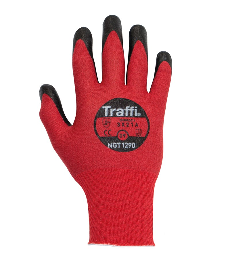 NGT1290 TraffiGlove® 21-gauge Cit Level A1 Work Gloves with Polyurethane PUD Coated Palms