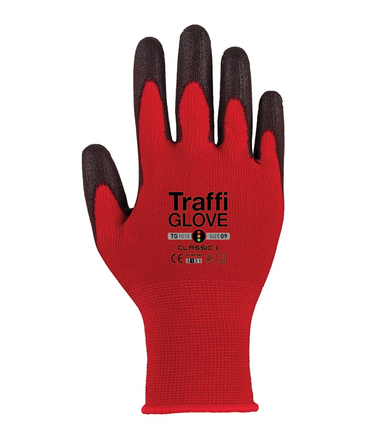 TG1010 TraffiGlove® Classic 1 Gloves with X-Dura PU Coated Work Gloves