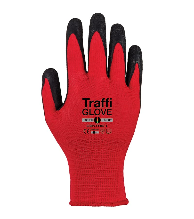 TG1050 TraffiGlove® Centric 1 Work Gloves with X-Dura Rubber Coated Palms