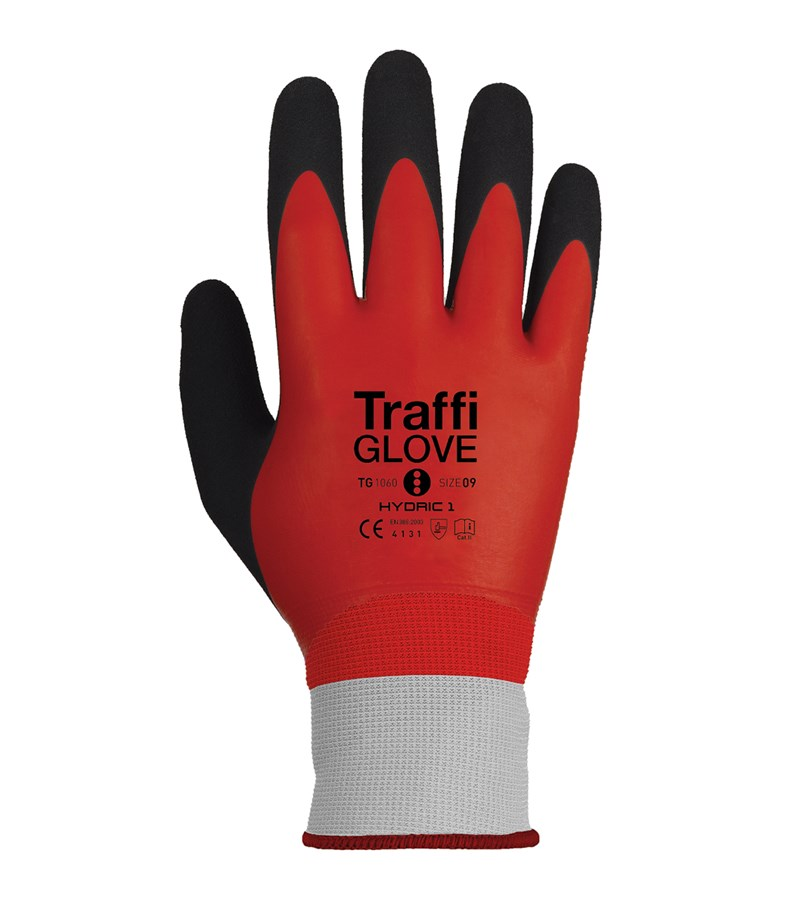 TG1060 TraffiGlove® Hydric 1 Gloves with LiquiDex Coated Industrial Work Gloves