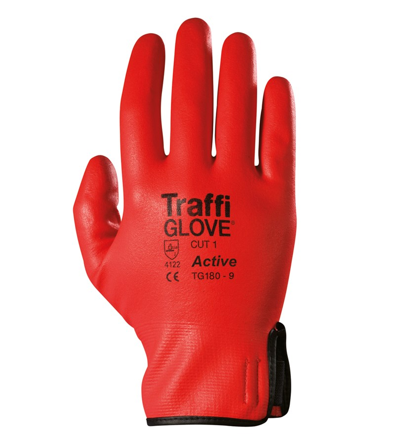 TG180 TraffiGlove® Active Water-Resistant Work Gloves with So-Flex Full Coating