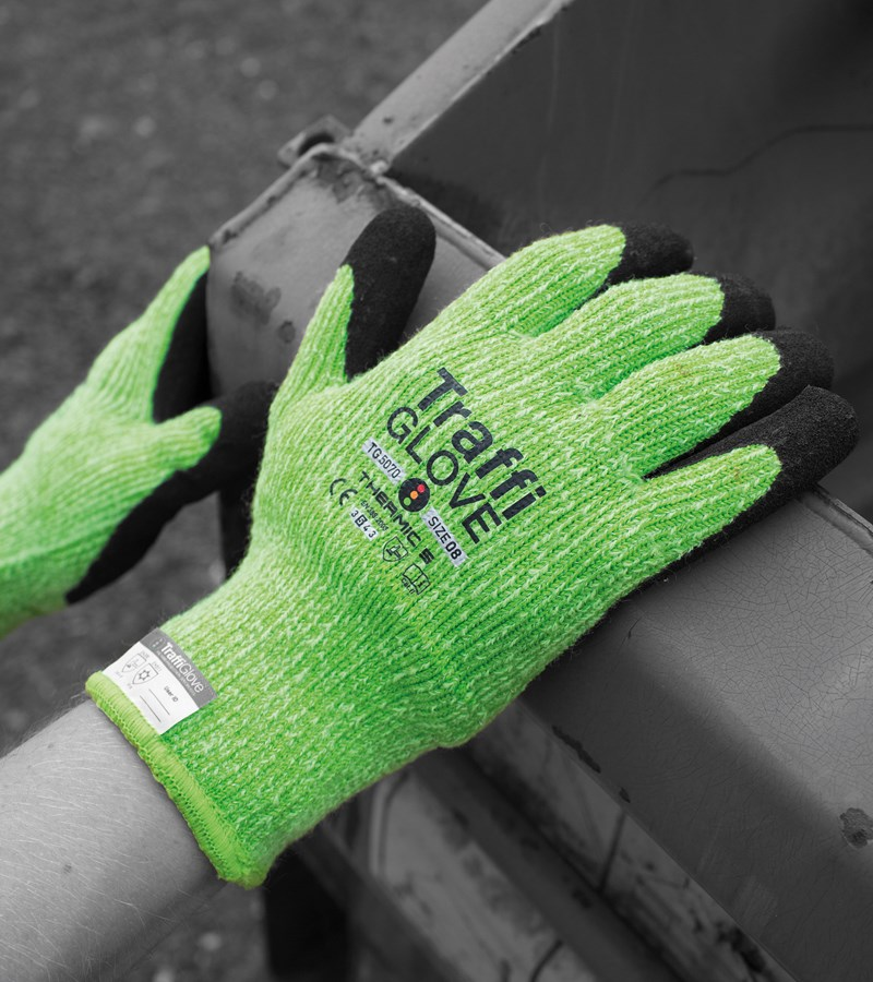 TraffiGlove® Thermic 5 Palm Coated Knit Winter Work Gloves