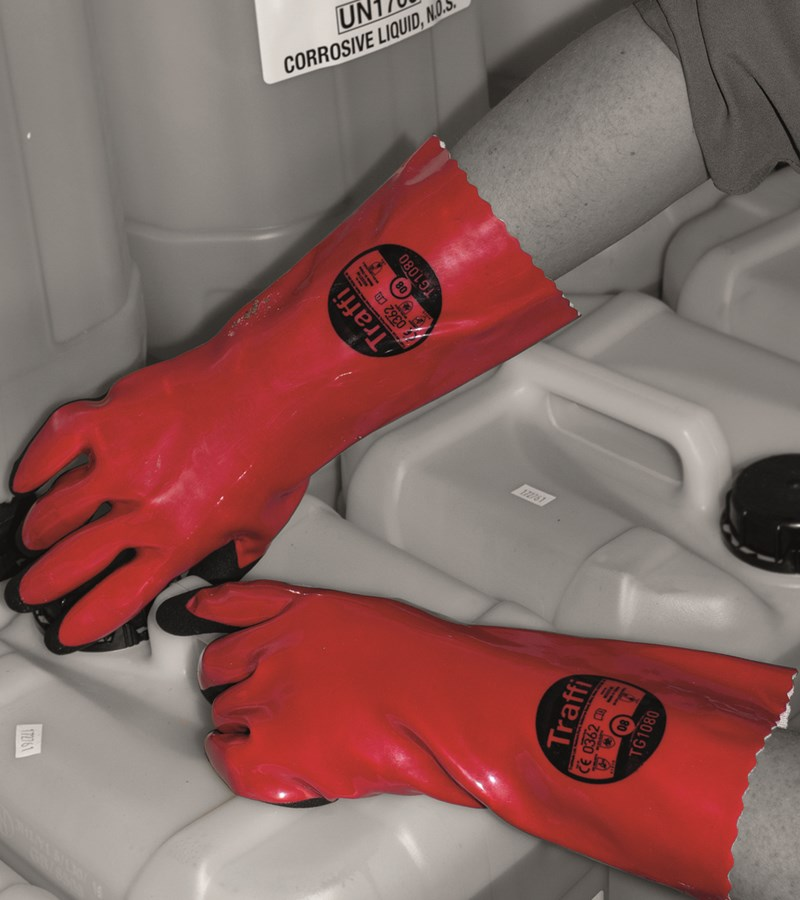 TG1080 TraffiGlove® Coated Chemical Safety Cut Gloves