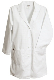 #L17F/LAFDC Pinnacle Textile Female Lab Coat w/ Belted Back
