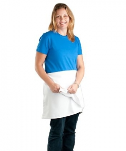 A2004 Pinnacle Textile 4-Way White Apron