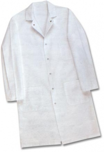 F380 Pinnacle Textile White Butcher Frock w/ Pockets