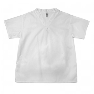 S120/BSDC Pinnacle Textile White Short Sleeve Bakers Shirt